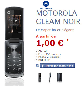 NRJMobile : Motorola Gleam