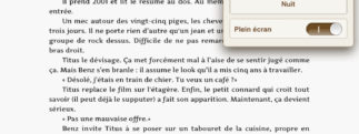 iBooks 1.5 - plein ecran