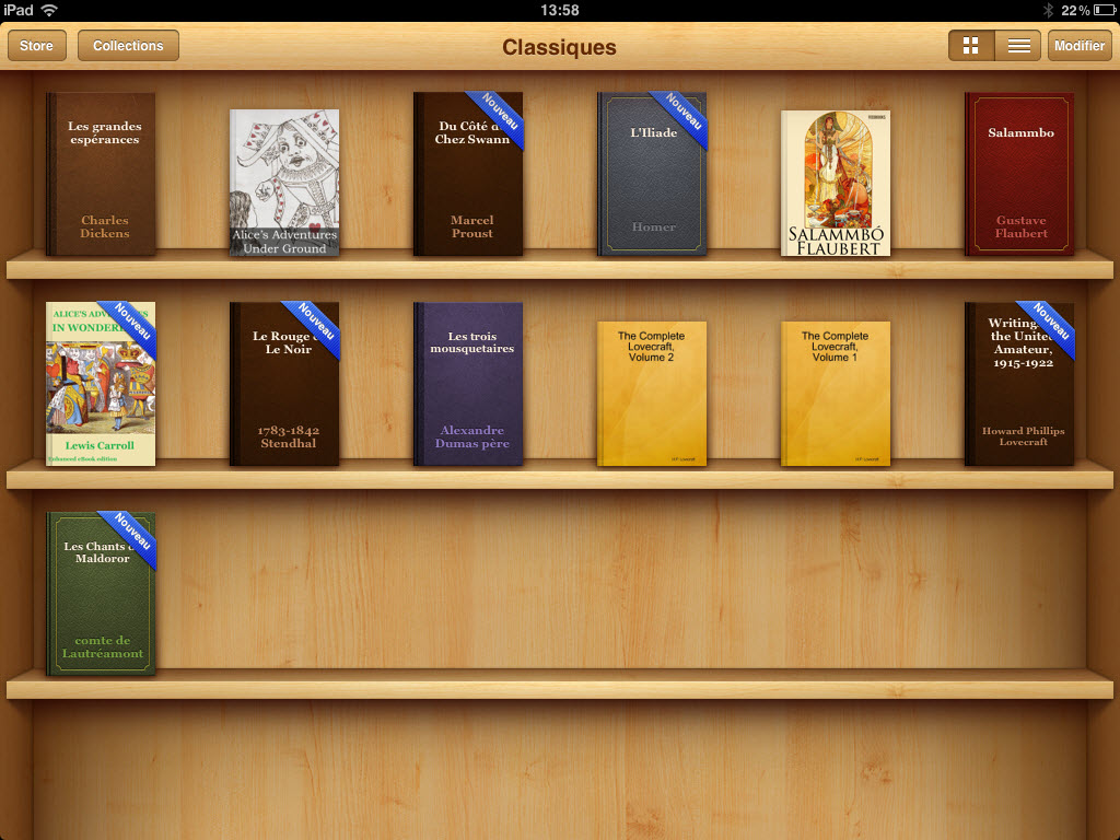 iBooks 1.5 - bibliothèque