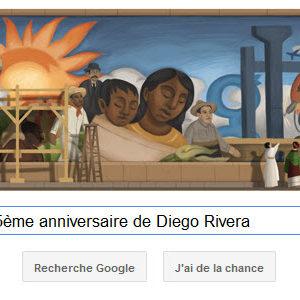 Google fête le 125ème anniversaire de Diego Rivera