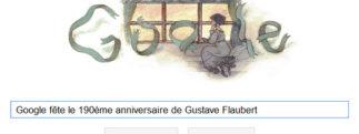 Google fête le 190ème anniversaire de Gustave Flaubert