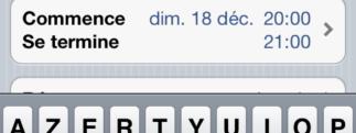 Paramétrage de l'agenda Google sur l'iPhone