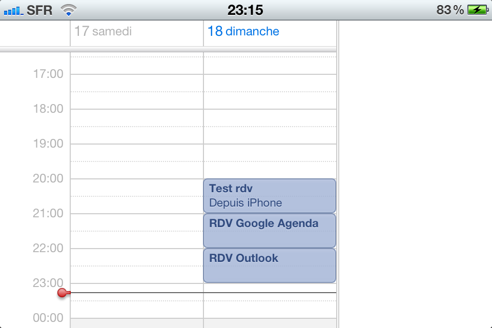 Synchronisation Outlook Google iPhone