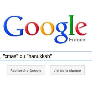 "Google : tapez ""christmas"", ""xmas"" ou ""hanukkah"" et regardez..."