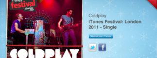 12 jours cadeaux iTunes 2011 – Jour 1 : Album de Coldplay au festival d'iTunes Londres 2011