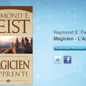 """12 jours cadeaux iTunes 2011 – Jour 4 : le iBook """"Magicien - L'Apprenti"""" de Raymond E.Feist"""