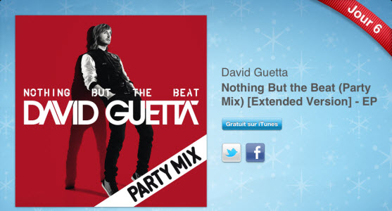 12 jours cadeaux iTunes 2011 – Jour 6 : Nothing But The Beat (Party Mix) de David Guetta