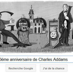 Google fête le 100ème anniversaire de Charles Addams
