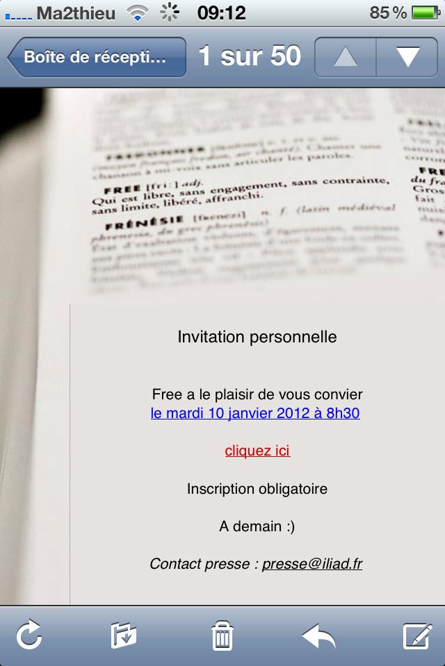 Free Mobile : la présentation officielle aura lieu le 10 janvier à 8h30