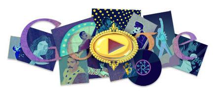 Doodle Freddie Mercury