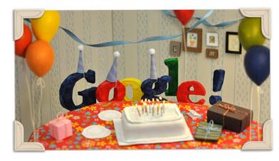 Doodle 13ème anniversaire Google
