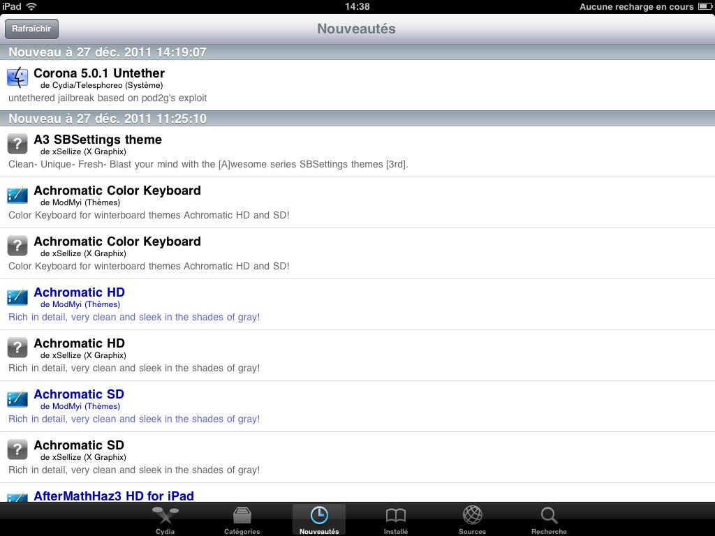 Pas à pas du jailbreak untethered de l'iOS 5 : méthode Corona (MAJ #4)