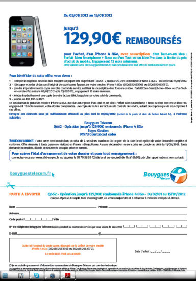 ODR bouygues iPhone 4