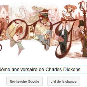 Google fête le 200ème anniversaire de Charles Dickens