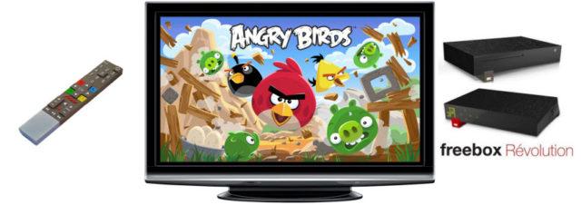 Angry Birds disponible sur la Freebox Revolution