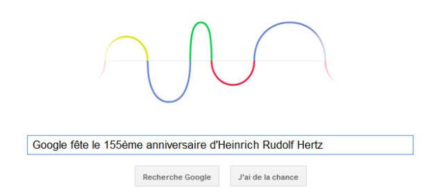 Google fête le 155ème anniversaire d'Heinrich Rudolf Hertz