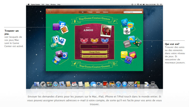 GameCenter OS X Mountain Lion