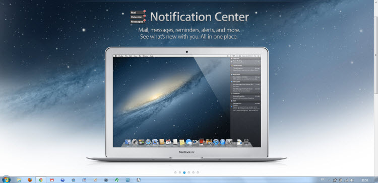 Notification Center OS X Mountain Lion 2