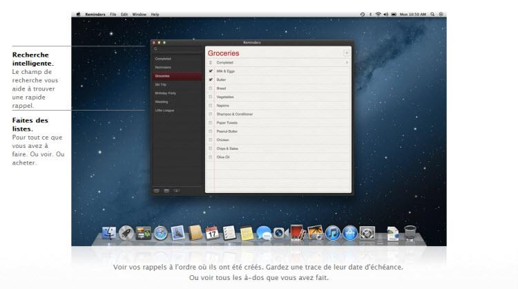 Rappels OS X Mountain Lion