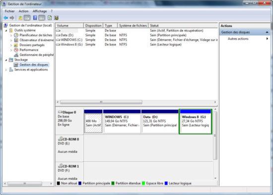 Partition Windows 8