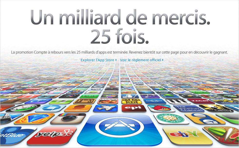 AppStore passe le cap des 25 milliards de téléchargements