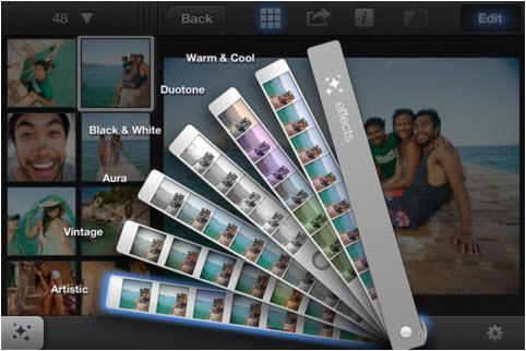iPhoto est disponible pour iPad et iPhone