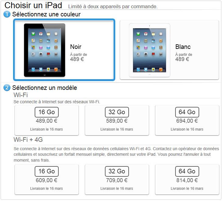 iPad 3 - Les prix et précommandes disponibles