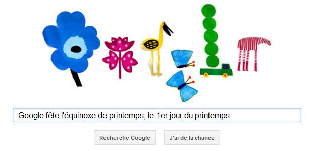 Google fête l'équinoxe de printemps, le 1er jour du printemps