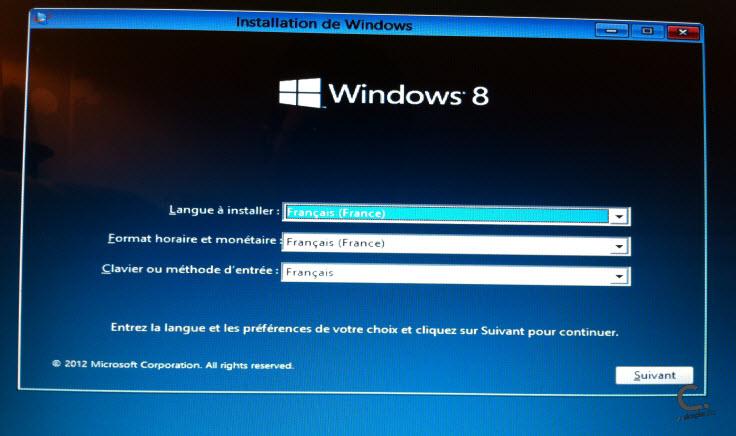 Windows 8 étape 1