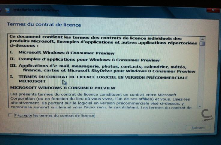 Windows 8 étape 6