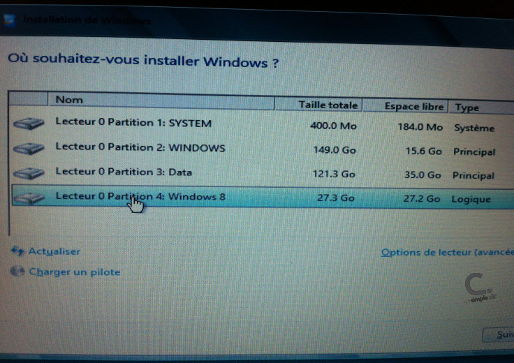 Windows 8 étape 8