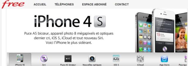Free Mobile : les iPhone 4 et iPhone 4S enfin disponibles!