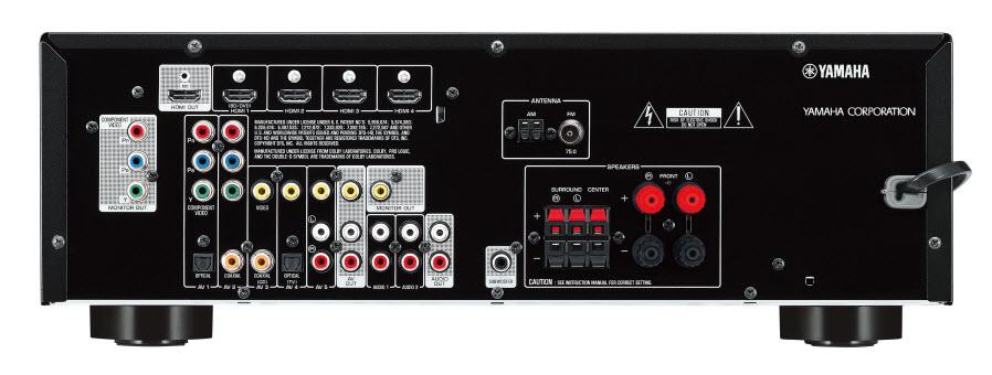 Ampli Yamaha RX-V373 - Arrière