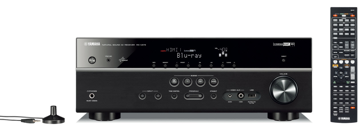 Ampli Yamaha RX-V473 Noir - Face