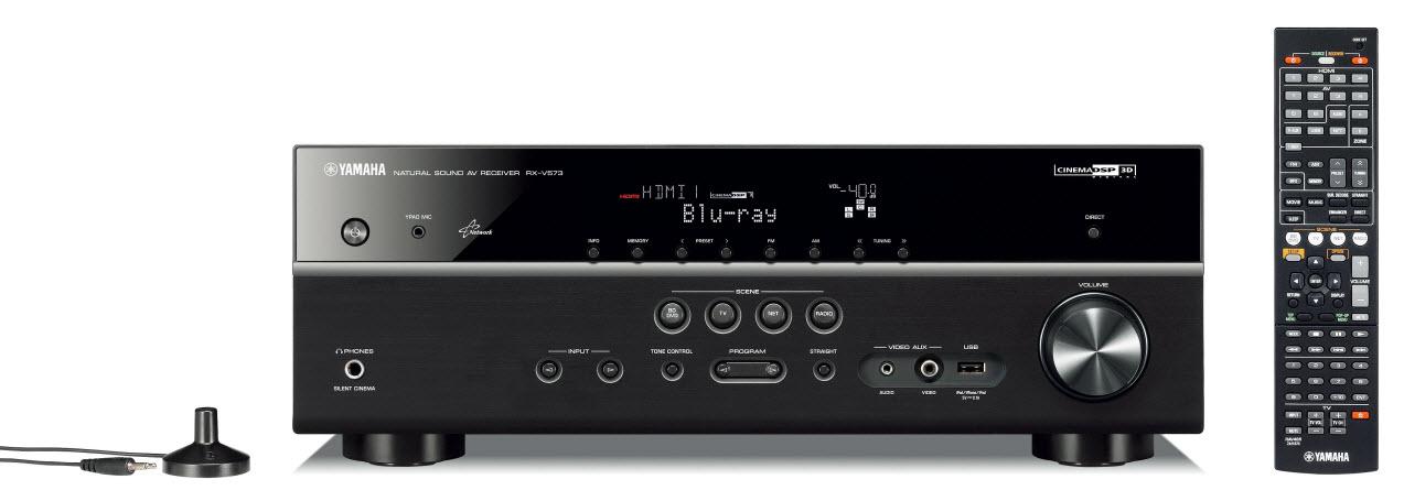 Ampli Yamaha RX-V573 Noir - Face