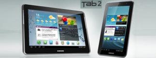 Les prix des Galaxy Tab 2 versions 7 et 10.1 pouces