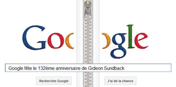 Google fête le 132ème anniversaire de Gideon Sundback