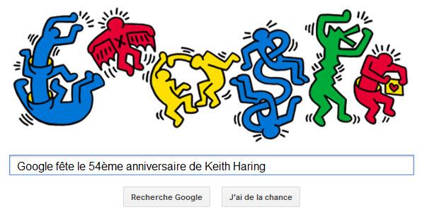 Google fête le 54ème anniversaire de Keith Haring