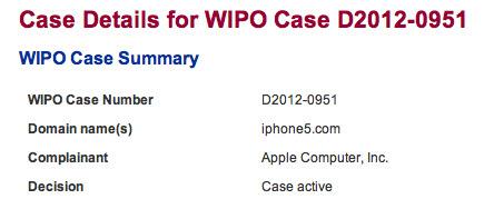 Apple essaye de récupérer le nom de domaine iphone5.com