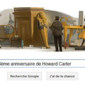 Google fête le 138ème anniversaire de Howard Carter