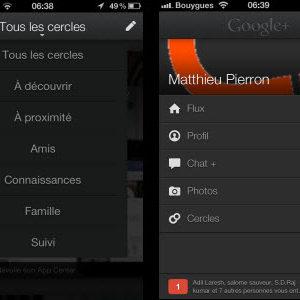 Une mise à jour très réussie de l'application Google+ pour iOS