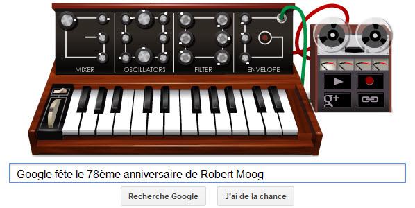 Google fête le 78ème anniversaire de Robert Moog