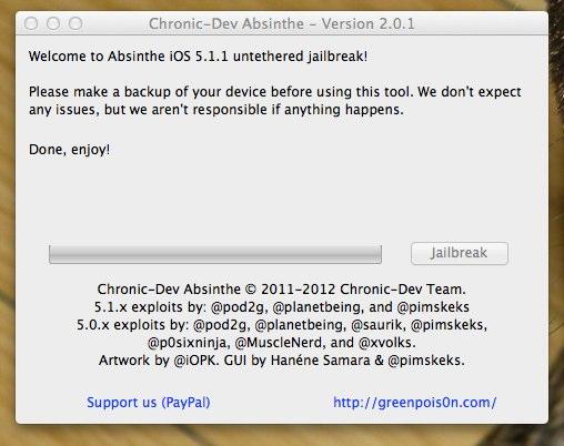 Chronic-Dev Absinthe - jailbreak iOS 5.1.1 - 4
