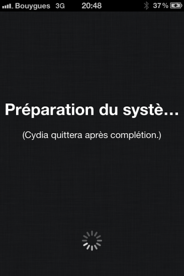 Cydia reboot jailbreak iOS 5.1.1 absinthe 2.0