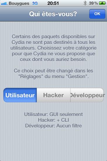 Cydia utilisateur Jaibreak iOS 5.1.1 absinthe 2.0