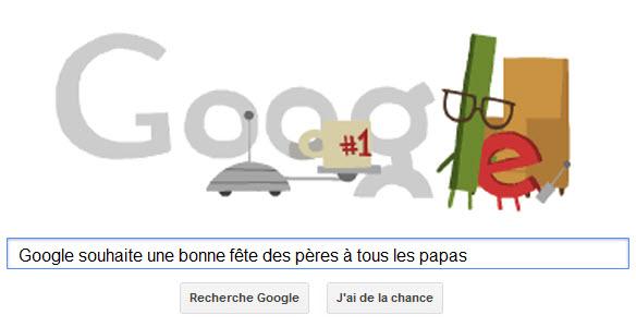 Google souhaite une bonne Fête des Pères à tous les papas