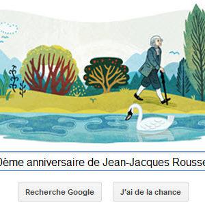 Google fête le 300ème anniversaire de Jean-Jacques Rousseau