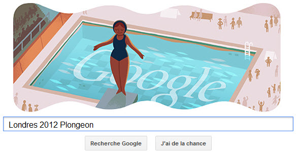 #Londres2012 - Google met à l'honneur le plongeon