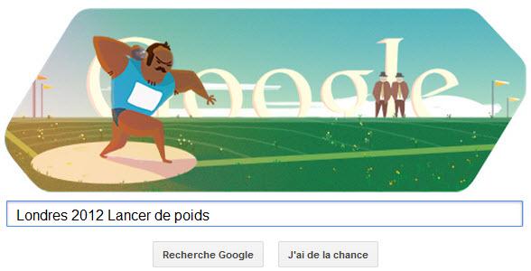 #Londres2012 - Google met à l'honneur le Lancer de poids