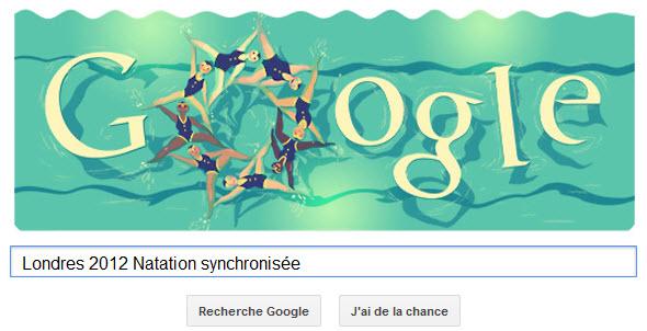 #Londres2012 - Google met à l'honneur la Natation synchronisée